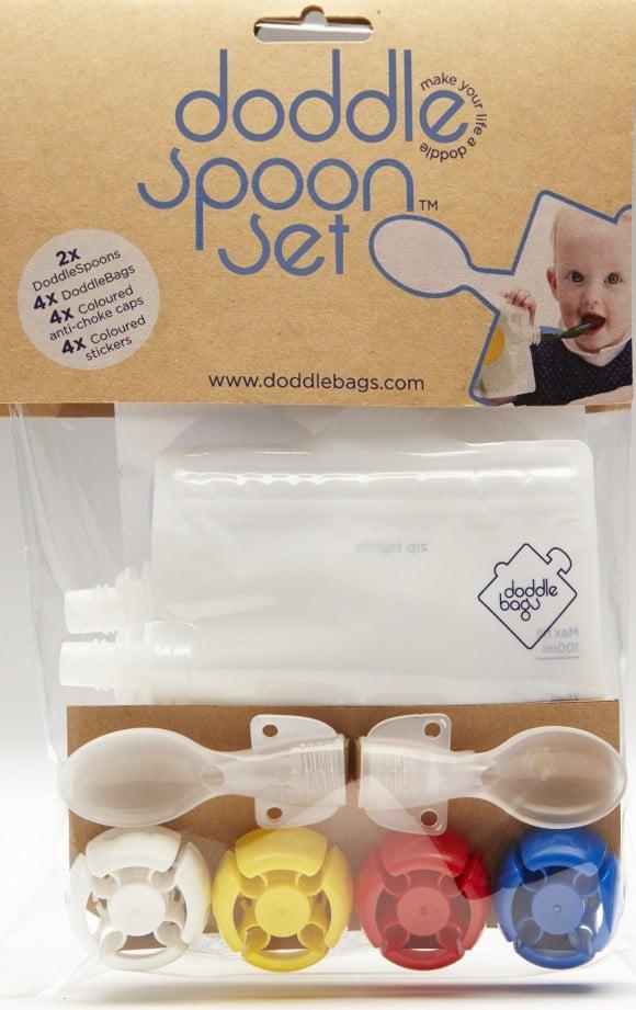 doodle bags kit repas lot de 4 gourdes 2 cuill res. Black Bedroom Furniture Sets. Home Design Ideas