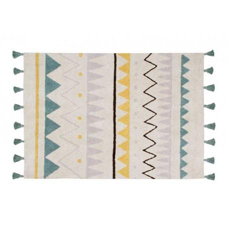 Tapis Azteca Azul Lavable En Machine Bb Cocoon
